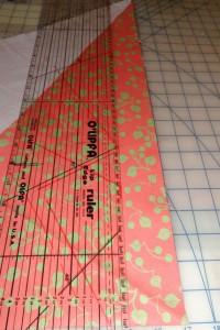 cutting bias strips for edging potholders
