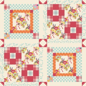 Spring Cheater Quilt at Spoonflower.com