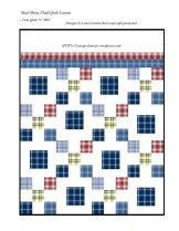 Mad About Plaid Quilt Layout.