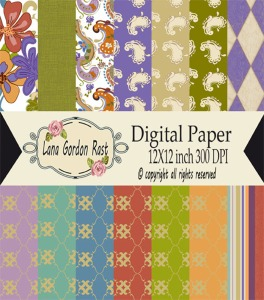 Autumn Floral paper pack label