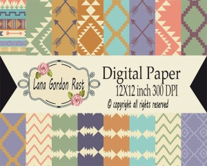 Southwestern paper pack label